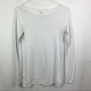 💜 Gap classic long sleeve white Pima cotton TALL